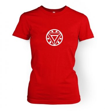 Mark 42 Arc Reactor  womens t-shirt