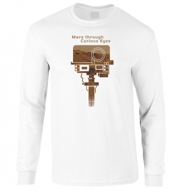 Mars Through Curious Eyes long-sleeved t-shirt