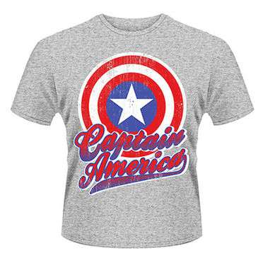 Marvel Avengers Assemble Captain America Colour Shield  Mens T-shirt