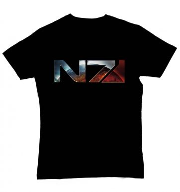 Mass Effect 3 Chrome N7 Logo t-shirt - OFFICIAL