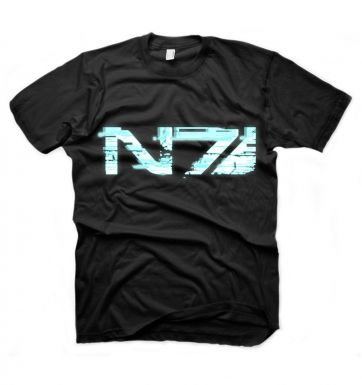 Mass Effect 3 Glitch N7 Logo t-shirt - OFFICIAL