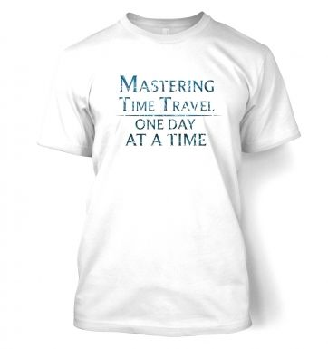 Mastering Time Travel (blue)  t-shirt