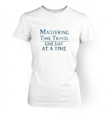 Mastering Time Travel (blue)  womens t-shirt