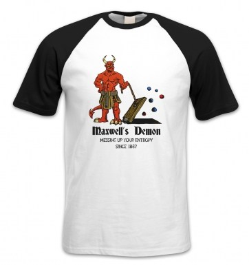 Maxwell's Demon short-sleeved baseball t-shirt