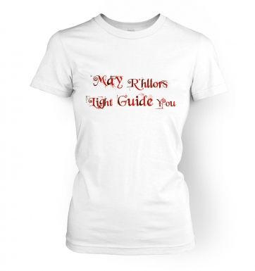 May R'hllors Light Guide You women's t-shirt