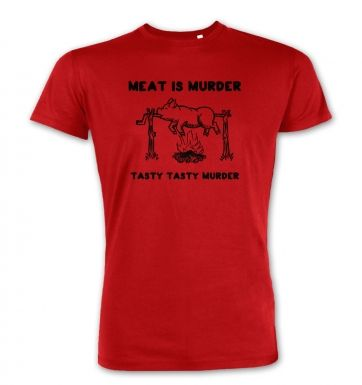 Meat Is Murder Tasty Tasty Murder premium t-shirt