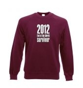 2012 End of The World Survivor Adult Crewneck Sweatshirt