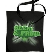 3D Geeky And Proud tote bag