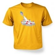 3D Retro Spaceship   kids t-shirt