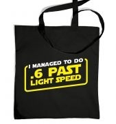 .6 Past Light Speed tote bag