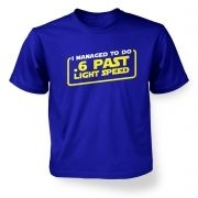 .6 Past Light Speed kid's tshirt