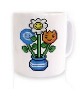 8-Bit Bouquet ceramic coffee mug 