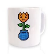 8-Bit Tulip ceramic coffee mug