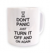 Don't panic just turn it off and on again mug