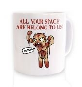 All Your Space ceramic coffee mug