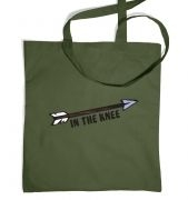 Cartoon Arrow In The Knee tote bag