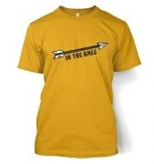 Cartoon Arrow In The Knee men's t-shirt