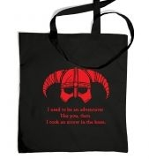 Arrow In The Knee (red detail) tote bag