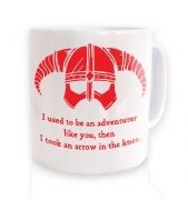 Arrow In The Knee (red detail) ceramic coffee mug