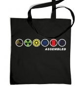 Assembled In A Row tote bag