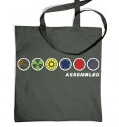 Assembled tote bag