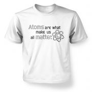Atoms matter  kids t-shirt