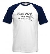 Atoms Matter short-sleeved baseball t-shirt