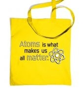 Atoms matter tote bag