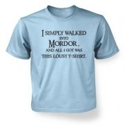 A t-shirt from Mordor - kids t-shirt