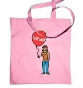 Awkward Balloon Girl tote bag