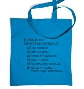 Before Smaug to-do list tote bag