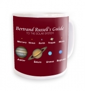 Bertrand Russell's Guide - maroon background  mug