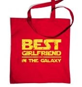 Best Girlfriend In The Galaxy tote bag