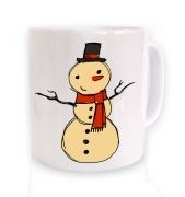 Big Snowman Sketch Christmas Mug