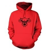 Black Outline Demon's Head hoodie