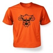 Black Outline Demon's Head kids' t-shirt