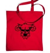 Black Outline Demons Head tote bag