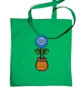 Blue Flower 8-Bit tote bag