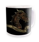 Bronze Dragonslayer ceramic coffee mug