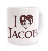 Brown I heart Jacob mug