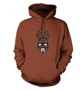 Brown Tribal Mask hoodie