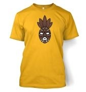 Brown Tribal Mask men's t-shirt