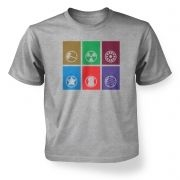 Calling Cards of the Assembled Kids T shirt Avengers