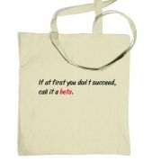 Call it beta tote bag