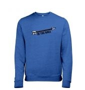 Cartoon Arrow In The Knee men's heather sweatshirt