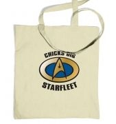 Chicks Dig Starfleet tote bag