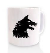 Dire Wolf ceramic coffee mug
