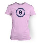 Distressed Bitcoin  womens t-shirt