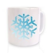 Distressed Snowflake Christmas mug