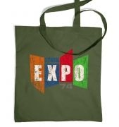 Distressed Stark Expo tote bag